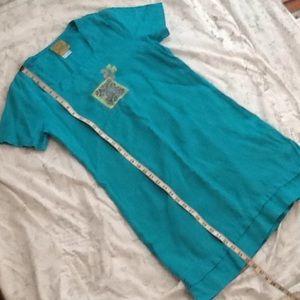 Blue Cactus linen dress